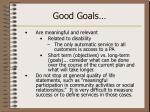good goals