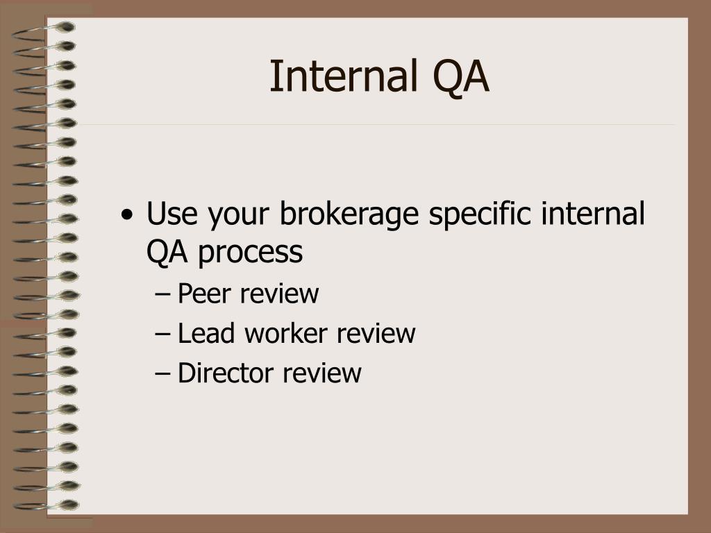Internal QA