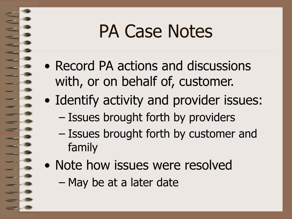 PA Case Notes