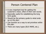 person centered plan