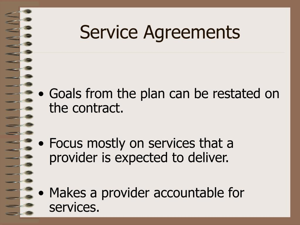 Service Agreements