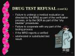 drug test refusal cont d77