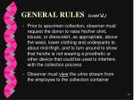 general rules cont d