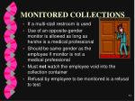 monitored collections
