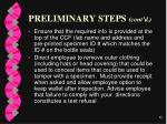 preliminary steps cont d60