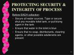 protecting security integrity of process