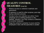 quality control measures cont d