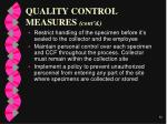 quality control measures cont d56