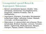 l sungsmittel speziell benzol isopropanol malons ure