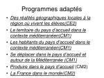 programmes adapt s