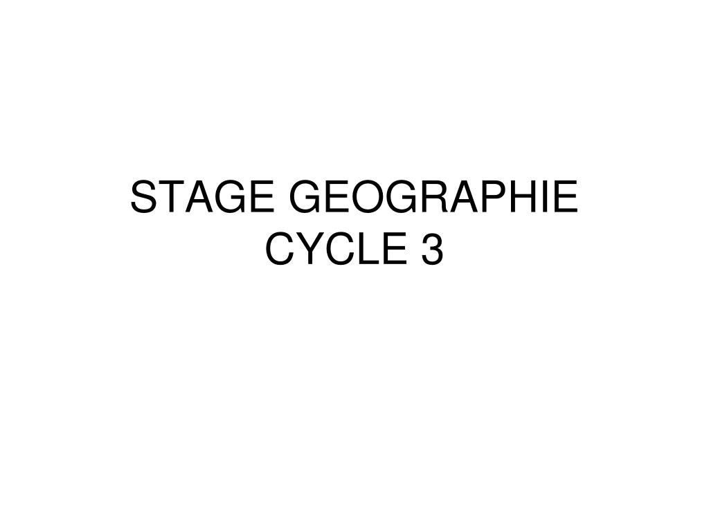 stage geographie cycle 3 l.