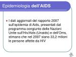 epidemiologia dell aids