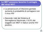 le mst possono favorire il contagio del virus hiv