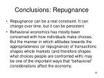 conclusions repugnance