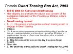 ontario dwarf tossing ban act 2003