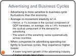 advertising and business cycles
