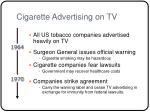 cigarette advertising on tv