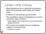 lambin 1976 findings