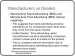manufacturers vs dealers8