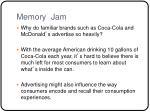 memory jam
