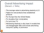 overall advertising impact gerard j tellis
