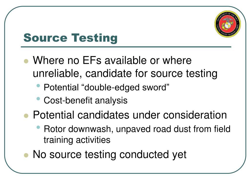 Source Testing