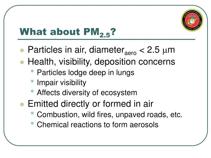 What about pm 2 5