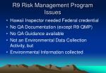 r9 risk management program issues