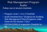 risk management program audits