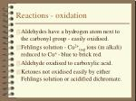 reactions oxidation