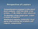 perspective of leaders