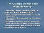 the citizens health care working group