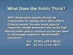 what does the public think2