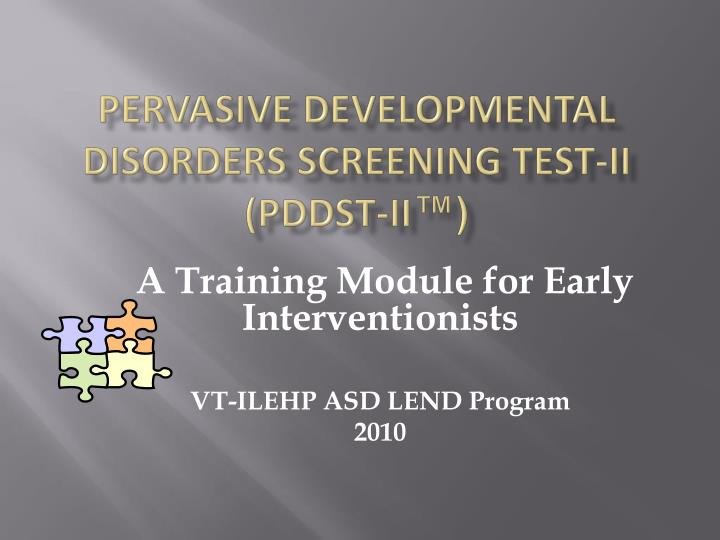 pervasive developmental disorders screening test ii pddst ii n.