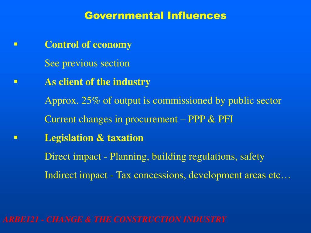 Governmental Influences