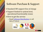 software purchase support