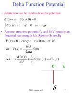 delta function potential