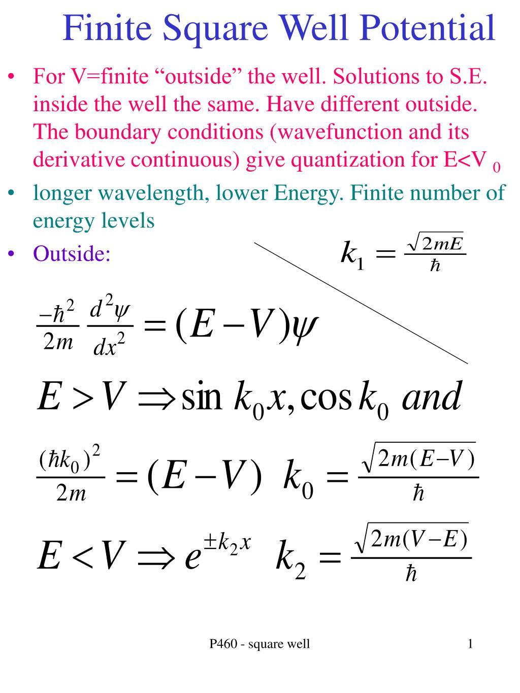 finite square well potential l.