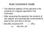 auto increment mode