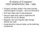 evolution of computers first generation 1945 1955