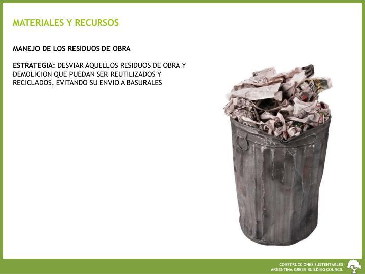 MATERIALES Y RECURSOS