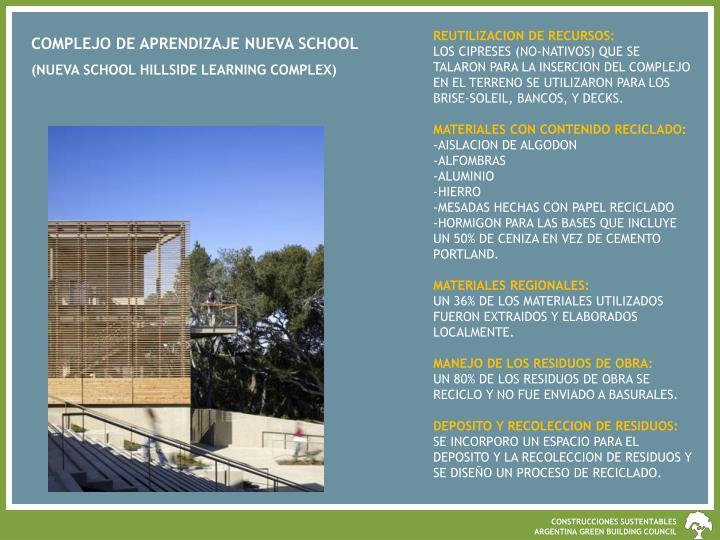 REUTILIZACION DE RECURSOS:
