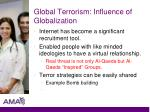 global terrorism influence of globalization