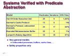 systems verified with predicate abstraction