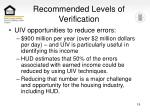 recommended levels of verification19