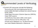 recommended levels of verification21
