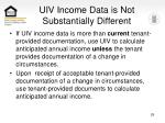 uiv income data is not substantially different29