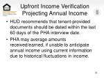 upfront income verification projecting annual income32