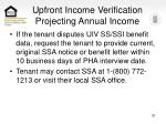 upfront income verification projecting annual income33