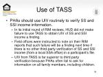 use of tass
